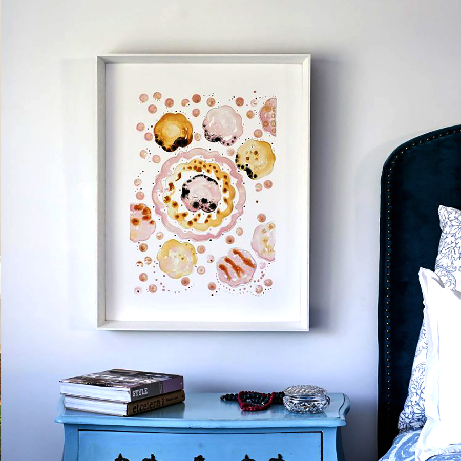 Pink Orange Copper Fine Art Prints Quality Art Framed Prints Artist Tory Burke Melbourne Independent Artist Studio Elwood