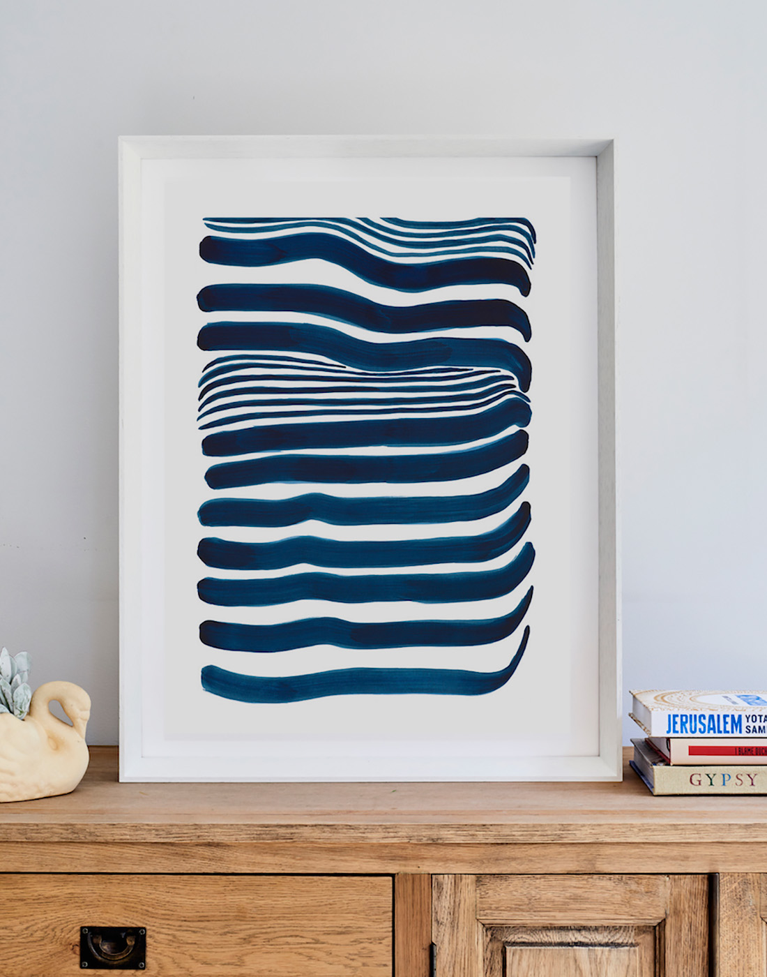 Navy Blue Lined Interior Stylist Fine Art Prints Quality Art Framed Prints Artist Tory Burke Melbourne Independent Artist Studio Elwood