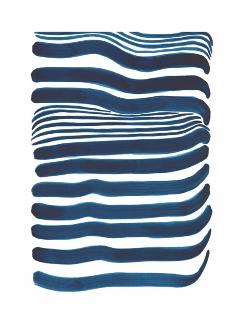 Navy Blue Lines print