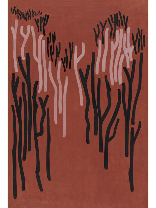 Gum Trees Red print