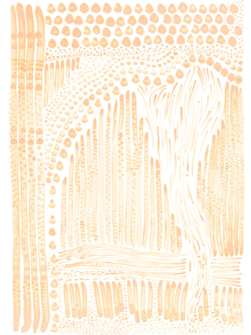 Orange Flow Giclee Print