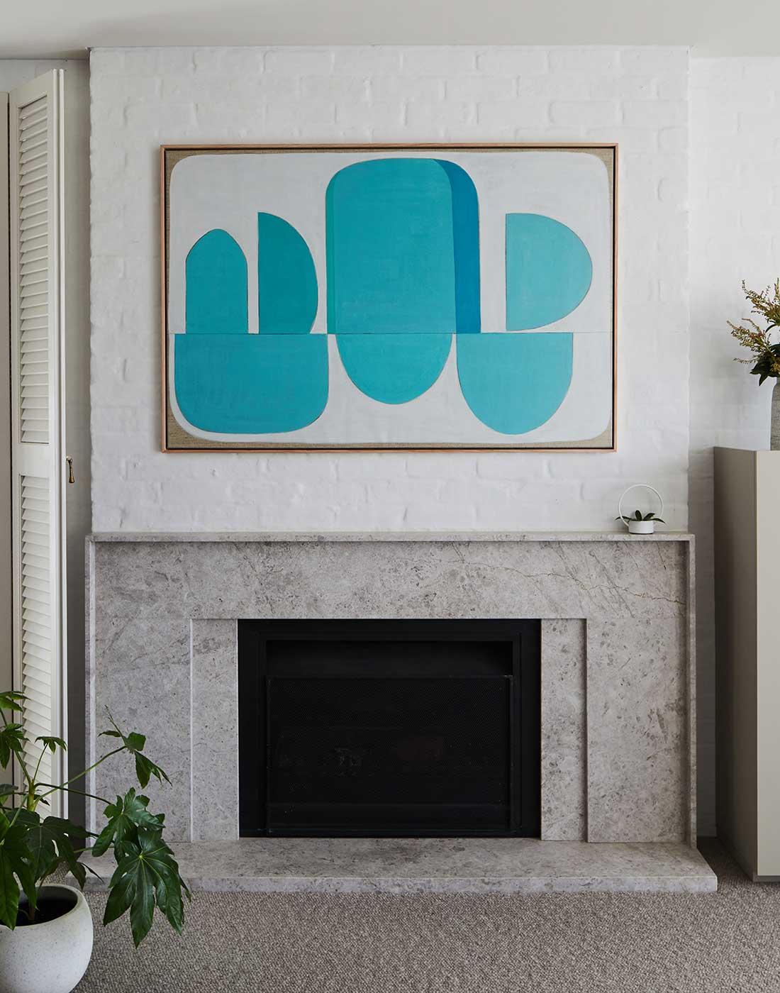 Original abstract artwork Aqua Apia