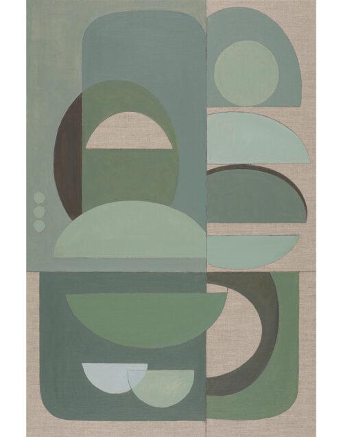 Original abstract artwork Green Arch